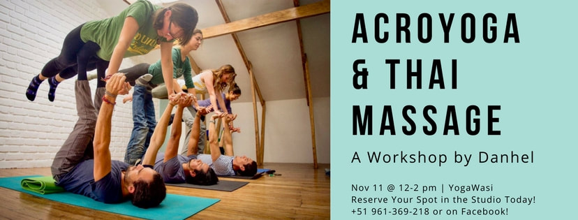 Acroyoga and thai massage